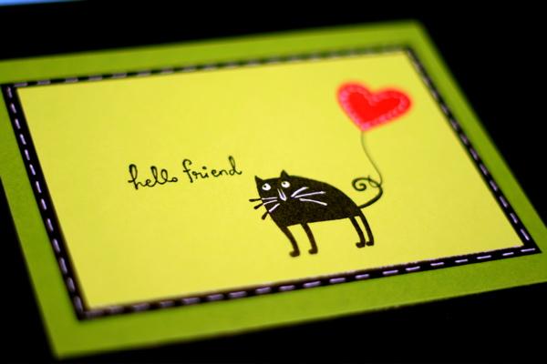 Valentine 2009 cat