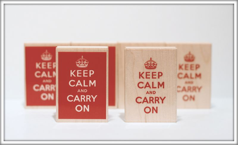 Keep calm rubber stamp photo for blog 2