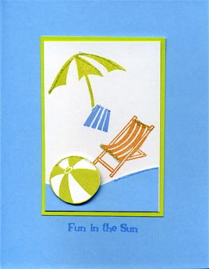 Sunny summer beach chair