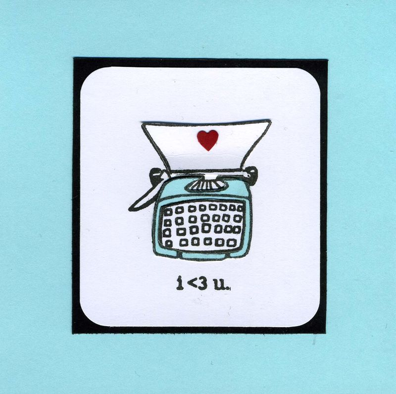 Typewriter i heart you card
