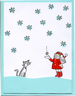 Holiday 2009 snowflake girl