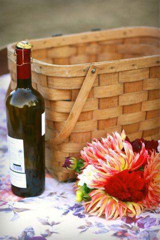 Wedding picnic basket